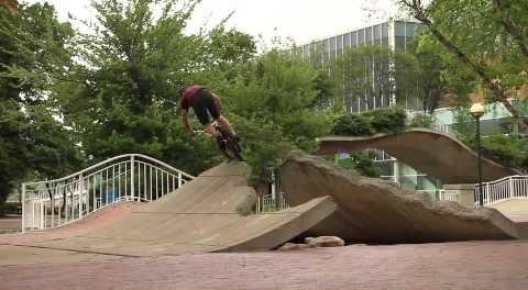 BMX – Street Spine trick by Lee Dennis