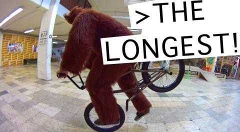Longest Hang 5 EVER!!?? BMX Bear goes CRAZY again!!!