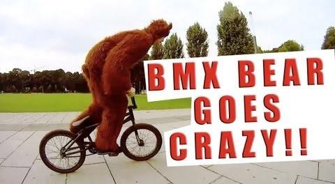 TEN 180 Bunnyhops in a row! Woozy BMX Bear goes crazy!