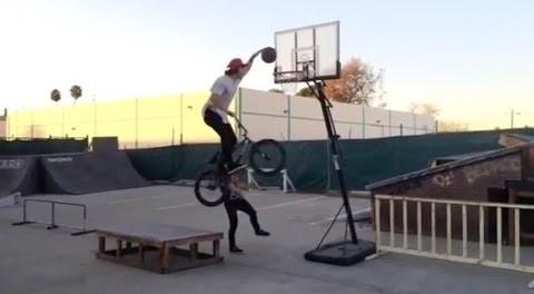 Broc Raiford BMX Basketball Slam Dunk