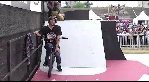 Kevin Peraza Winning BMX Street Contest Run