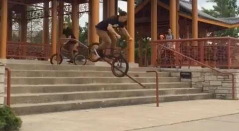 BMX: Brian Kachinsky Almost Gets Impaled By Broken Rail