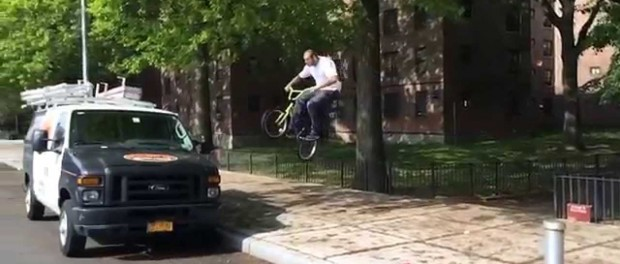 Insane Gap On To A Van by Mike Hoder