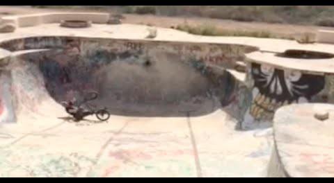 BMX Fail: Dude Breaks Leg Riding A Pool.