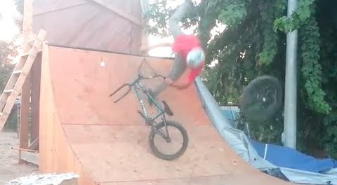 Fail: BMX Rider's Wheel Falls Off Trying A Tailwhip