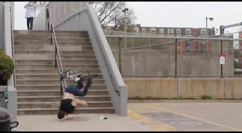 BMX – Insane Handrail Crash.