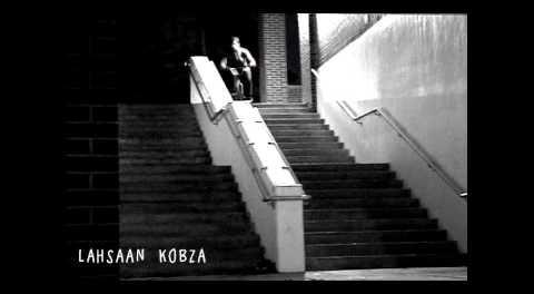 Lahsaan Kobza BMX Massive Hubba Tire Ride