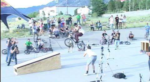 BMX Rider Comes Up Short On A Huge Gap