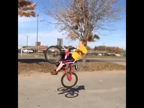 Little Kid Takes The Funniest Bike Crash Ever