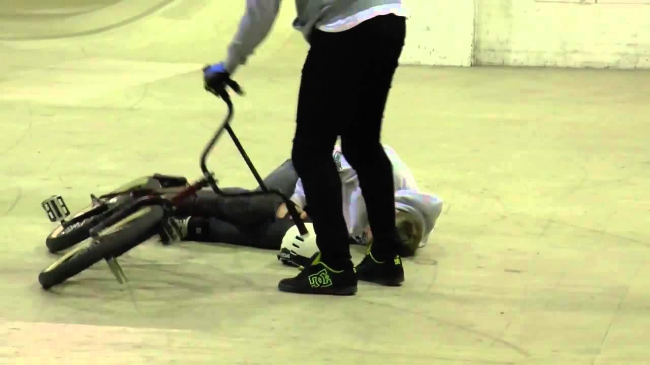 Brutal Double Backflip BMX Crash