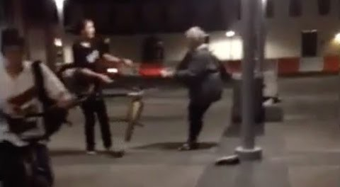 Crackhead Grandma Tries To Steal Kid's Bike