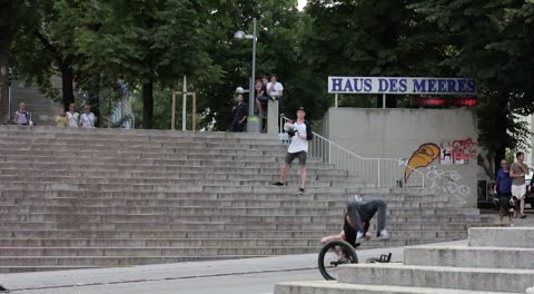 Dillon Lloyd HUGE 360 Stair Slams