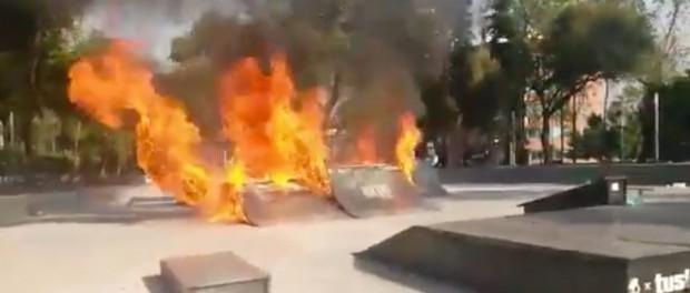 Police Burn Down Skatepark