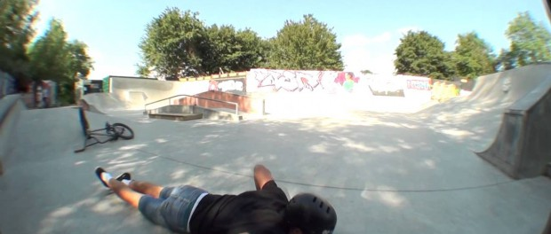 BMX Fail: 360 Down Stairs Gone Terribly Wrong