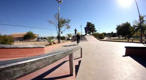 BMX – Matt Closson Rides the new Las Vegas Skate Plaza
