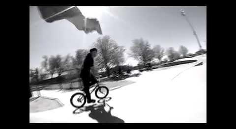 Hoang Tran BMX Double Peg to Crank Arm Grind