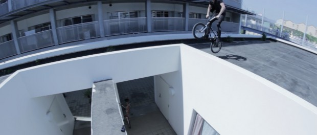 Sean Burns Grinds Over A House