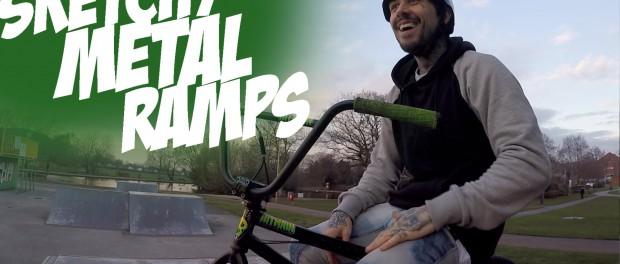 Riding Bmx #1 : Sketchy Metal Ramps