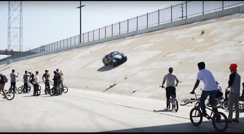 BMX CREW vs CRAZY GUY IN A CAR