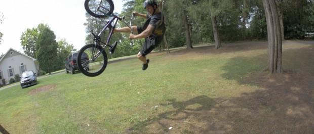 BMX ROPE SWING!