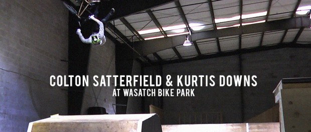 Colton Satterfield and Kurtis Downs at Wasatch Bike Park