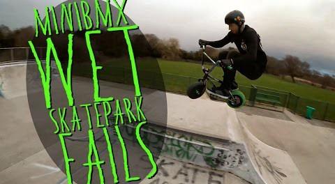 """MINI BIKE MISSIONS"" #1 : Wet Skatepark Fails"