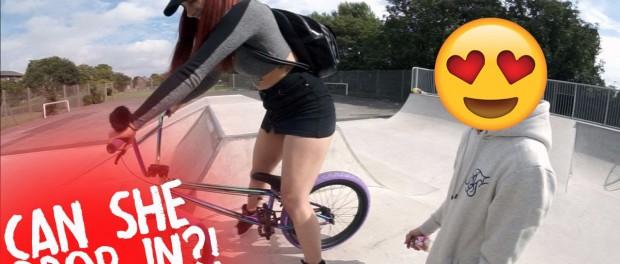CRAZY BMXER GIRL!