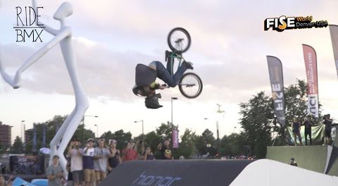 DOUBLE FRONT FLIP ON A BMX AT FISE