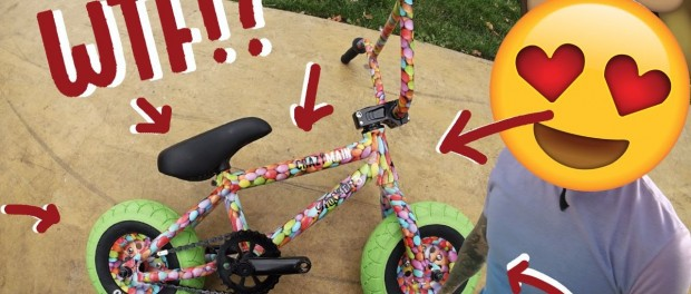 BIKE MADE OUT OF CANDY?!