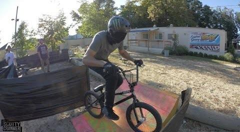 BLINDFOLDED BMX CHALLENGE!