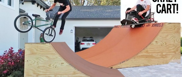 EVERY BMX TRICK ON MY NEW QUARTER PIPE!