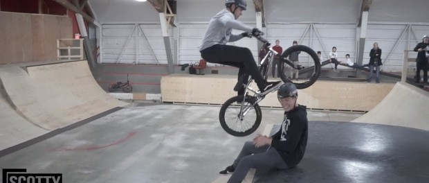 BIKE TO THE FACE! (NEAR MISS)