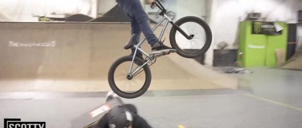 CRAZY BMX LONG JUMP! (HUMAN RAMP)