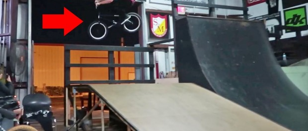 JAMES TRIED JUMPING OUT OF THE SKATEPARK!