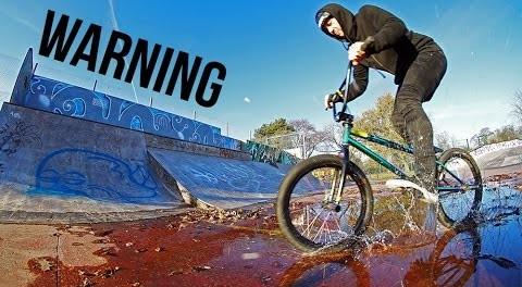 WET BMX SKATEPARK SESSION!