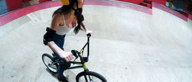 CAN SHE RIDE BMX?!