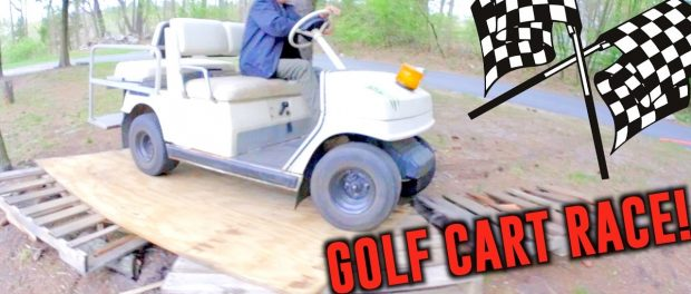 GOLF CART OBSTACLE COURSE RACE!
