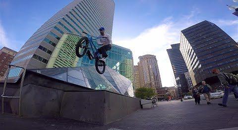 RIDING BMX STREET IN BOSTON!