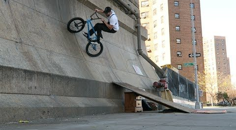 Sketchy BMX Quarterpipe in NYC!
