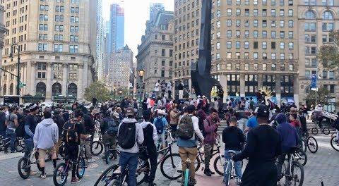 HUNDREDS of BMX RIDERS FLOOD NYC STREETS!