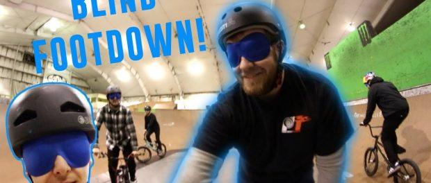 BLINDFOLDED BMX BIKE BATTLE!