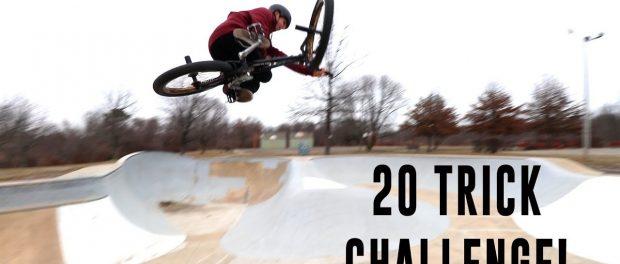 20 TRICK CHALLENGE AT THE SKATEPARK!