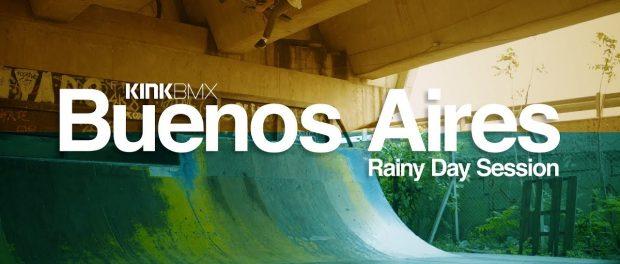 Extreme Rainy Day Kink BMX Ramp Session!