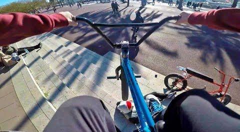 GoPro BMX Bike Riding in Barcelona, Spain
