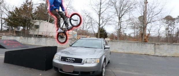 LETTING MY FRIENDS JUMP OVER MY AUDI!