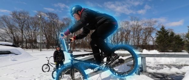 RIDING A SKATEPARK IN THE SNOW!