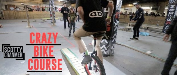 BLIND BIKE RIDER AND OBSTACLE COURSE!