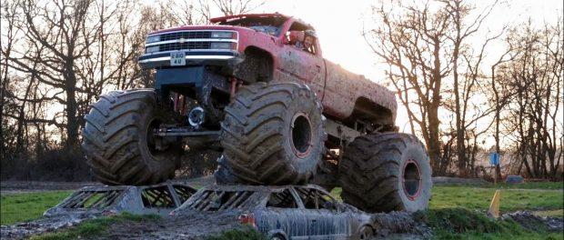 Driving a V8 Monster Truck
