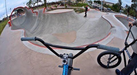 Riding BMX at Unreal California Skateparks