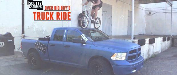 HE RODE HIS BIKE OVER BIG BOY'S TRUCK!